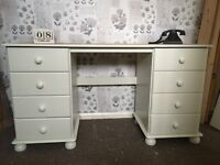 Pine and cream dressing table