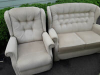 Sherborne suite - electric riser recliner chair, dual motor and 2 seater sofa