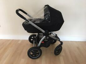 Maxi Cosi Pushchair with Carrycot, Raincovers, Adapters for Pebble Carseat -As Good as New