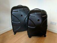 Titan X2 Shark Skin Hard Case Suitcase Trolley Black 4 Wheels - 71 cm & 77 cm