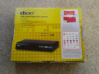 Dion FreeView set top box with remote, etc