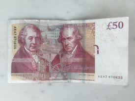 Rare £50 note AK47 serial number