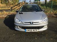 2007 Peugeot 206 1.4 Sport 3 dr silver+12Months MOT+HPI Clear+Warranted Low Miles+Hpi Clear+for £695