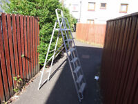 Two sets of step ladders