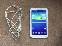 Samsung Galaxy Tab 3, 8GB, 7 Inch, Model: SM-T210, Android 4.4.2 with usb cable