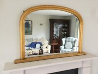OVERMANTLE MIRROR -ANTIQUE GOLD