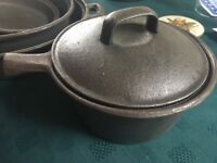 Cast iron cookware - skillet, frying pan, casserole dishes. Never used.