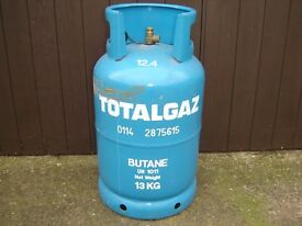 "TOTALGAZ 13K BUTANE GAS BOTTLE EMPTY. ""FREE FOR PICK UP."""