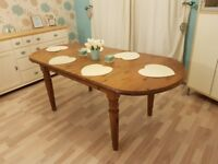 Large Solid Pine Farmhouse Dining Table