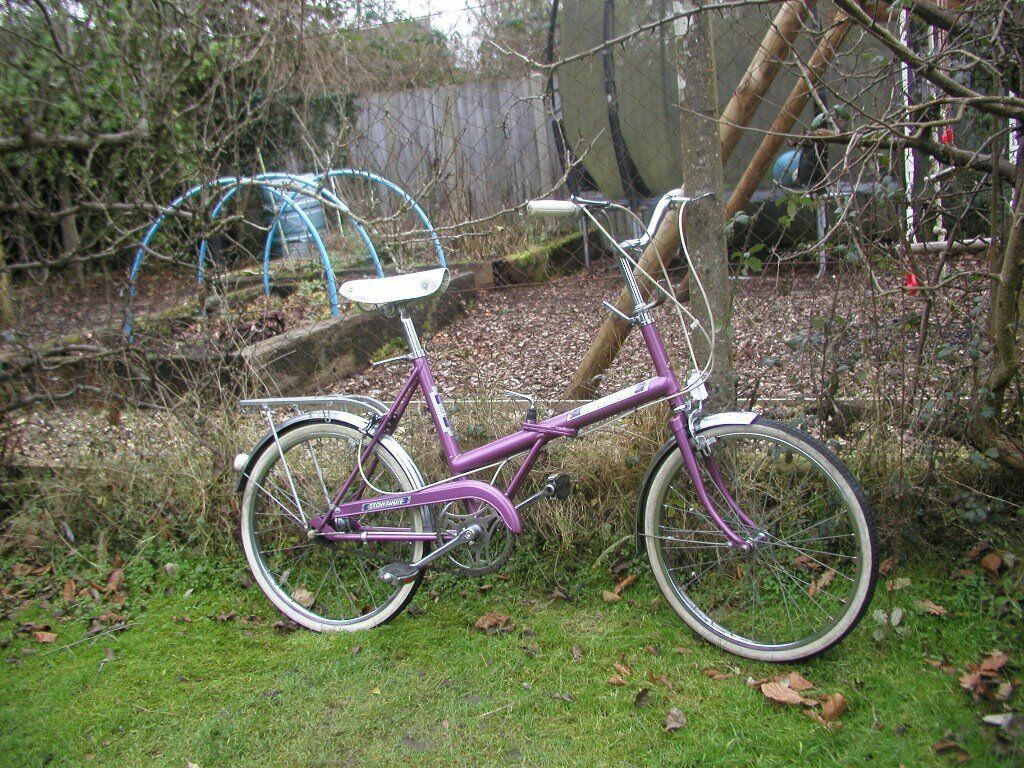 raleigh stowaway vintage folding bike,1970,s truly exceptional condition