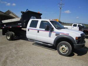 2008 Ford F550 4WD CREW CAB DUMP BOX
