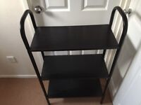 3 Shelved Stand in black ash effect