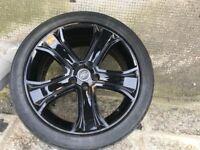 "Range rover sport 20"" Black edition wheels"