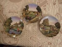Canal Boat Royal Worcester Plates