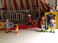 Playmobil Circus Tent 4230, plus acrobats (4236) and animal trainer (4233)