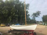Drascombe Longboat and road-trailer
