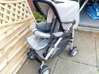 PUSHCHAIR, FROM BIRTH TO 3 YEARS, RAIN COVER, SHOPPING TRAY, BARGAIN £15, CAN DELIVER
