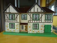 Triang Dolls House - 1940s (advised as model Triang Stockbroker ) with furniture