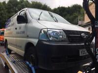 Toyota hiace van 57 d4d spares or repairs £2000