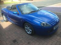 MGTF convertible electric blue 50 k miles. PHONE STEVIE. 07766742926