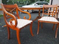 Extendable high quality vintage table and chairs