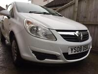 2008 Vauxhall Corsa Van 1.3CDTi 70MPG, £30 Tax, Spares or Repairs with annoying Electrical Fault!