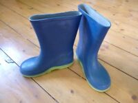 Blue child's wellies size 10