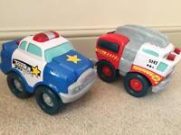 Kids Tonka Trucks - Police Car & Fire Engine
