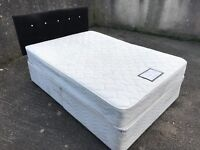 Double Bed with Diamonte Studded Headboard