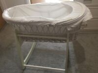 John Lewis Moses Basket with Babies R US stand