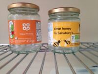 Honey Jars with lids - free on collection
