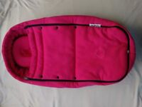 BUGABOO BEE PLUS HOT PINK HOOD AND COCOON