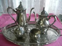 Silver Plated Teaset by M& R