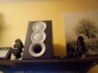 Aux sound system by CREATIVE acoustics. Remote controlled