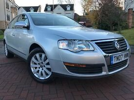 *12 MTHS WARRANTY*IMMACULATE EXAMPLE*2007 VW PASSAT 1.9 TDI S 4DR SALOON WITH FULL SERVICE RECORD*