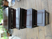 Chinese Rosewood Nest of 4 Tables very good solid beatiful condition And Free T-sets