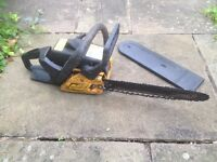 "McCulloch 338 Chainsaw - 14"" Bar - needs a part to get working perfectly again"