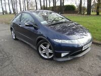2007 56 HONDA CIVIC 1.8 I-VTEC TYPE-S GT 3d 139 BHP ****GUARANTEED FINANCE ****PART EX WELCOME