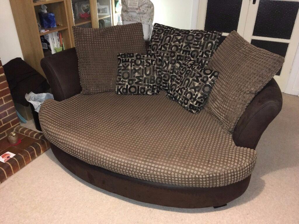 Brown Fabric Sofa Set Corner Sofa Cuddle Sofa Amp Foot