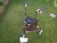 Homecraft Three-Wheeled Rollator Trolley / Walking Aid With Bag