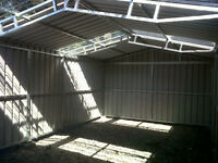 7.1m x 6.1m Steel Shed
