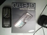 SAMSUNG PHONE WITH BOX AND CHANGER ON ANY NETWORK EX CON £5 NO TEXTS