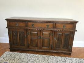 Wooden sideboard (made in England)