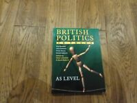 AS Level British politics in focus by R Bentley,A Dobson,P Dorey,David Roberts excellent condition
