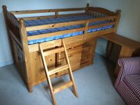 Solid Pine Cabin Single Bed