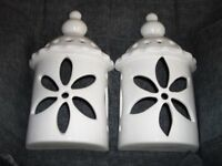 Pottery lamp shades