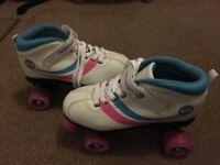 Kids Osprey Disco Roller Skates White Size 4