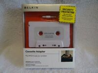 BELKIN F8V366-APL Cassette Adapter, Brand New, Sealed