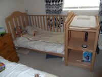 Mamas & Papas Cot / Bed combination & Changing staion #Price Reduced to £150 fixed#