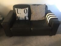 Ikea black sofas + armchair